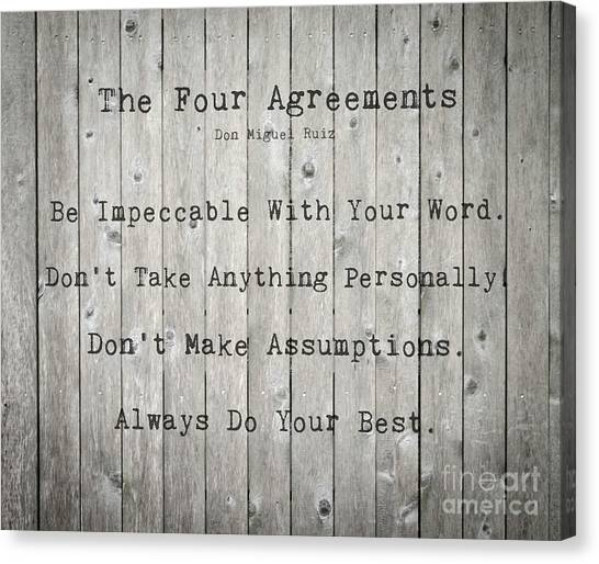 The Four Agreements 12 Canvas Print