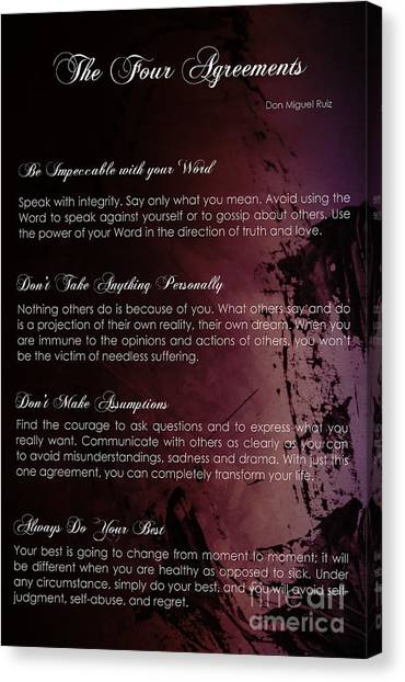 The Four Agreements 3 Canvas Print