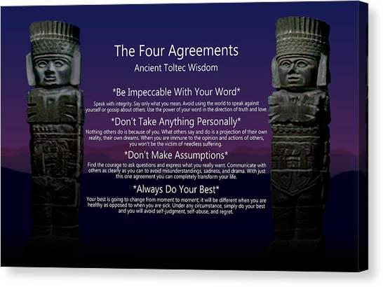 The Four Agreements Poster Canvas Print