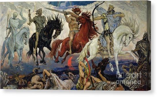 Apocalypse Canvas Print - The Four Horsemen Of The Apocalypse by Victor Mikhailovich Vasnetsov