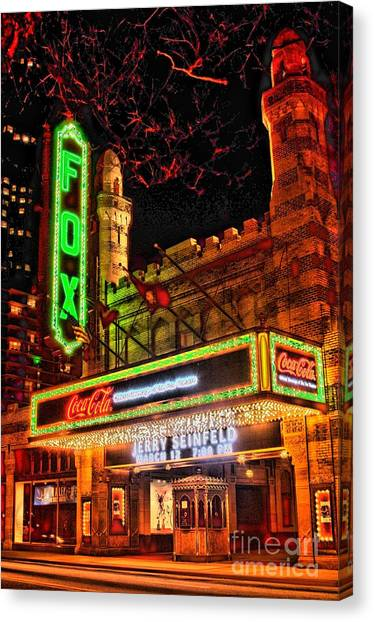 Jasper Johns Canvas Print - The Fox Theater Atlanta Ga. by Corky Willis Atlanta Photography