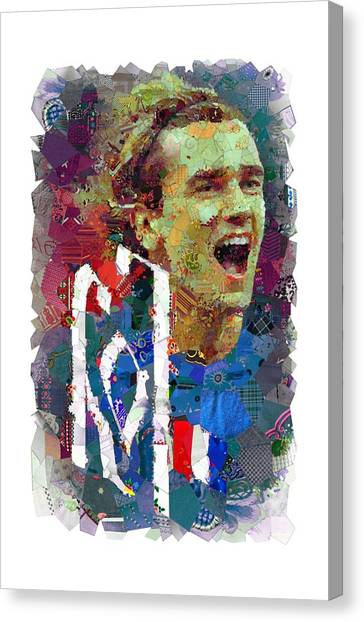 Atletico Madrid Canvas Print - The France National Team by Cara Amel