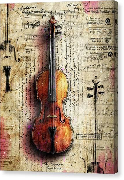 Mozart Canvas Print - The Francesca Stratavari by Gary Bodnar