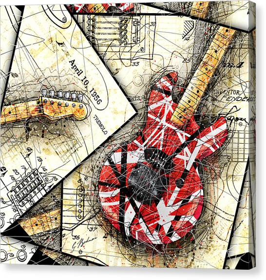 Van Halen Canvas Print - The Frankenstrat by Gary Bodnar