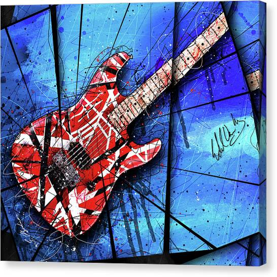 Van Halen Canvas Print - The Frankenstrat Vii Cropped by Gary Bodnar