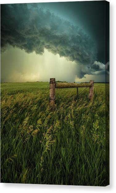 Canvas Print featuring the photograph The Frayed Ends Of Sanity  by Aaron J Groen