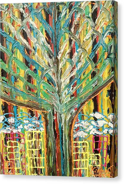 The Freetown Cotton Tree - Abstract Impression Canvas Print
