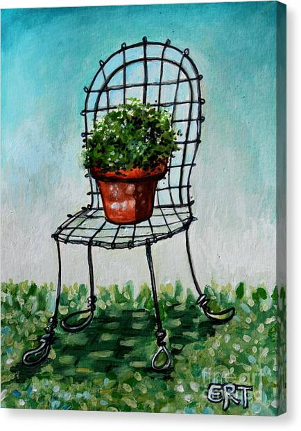 The French Garden Cafe Chair Canvas Print