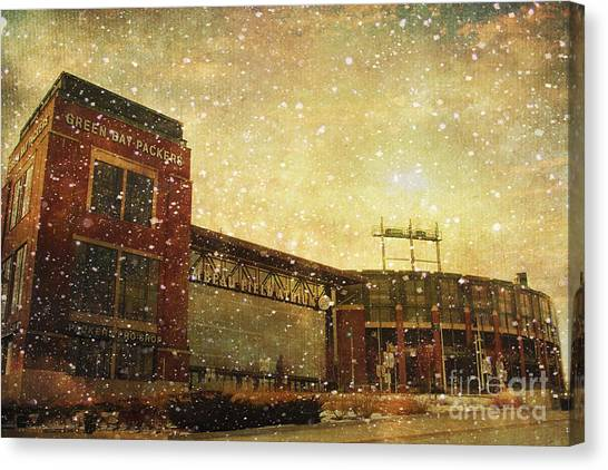 Nfl Canvas Print - The Frozen Tundra by Joel Witmeyer