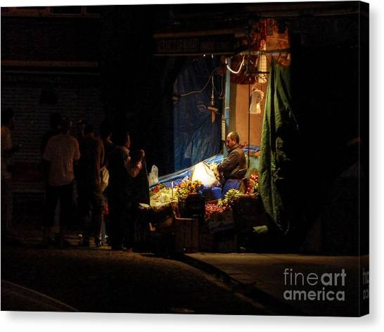 Vegetable Stand Canvas Print - The Fruit Deal by Michael Garyet