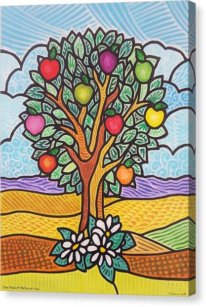 The Fruit Of The Spirit Tree Canvas Print