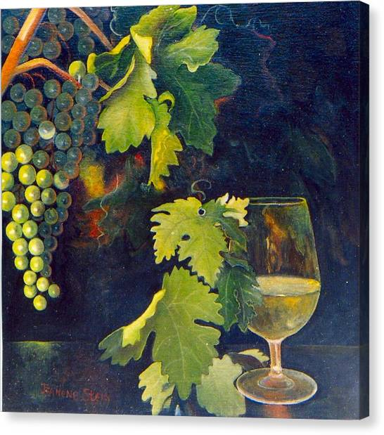 The Fruit Of The Vine Canvas Print by Jeanene Stein