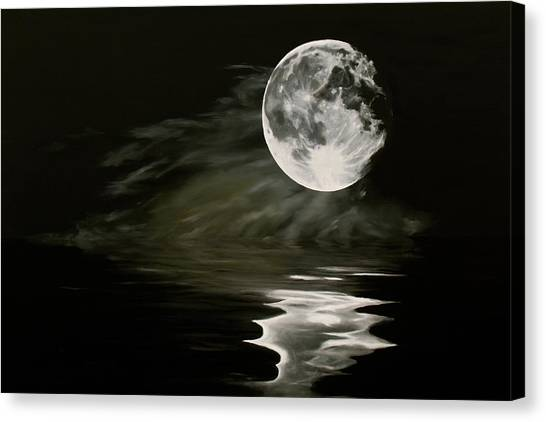 The Fullest Moon Canvas Print