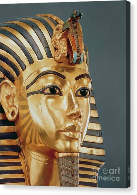 Vultures Canvas Print - The Funerary Mask Of Tutankhamun by Unknown