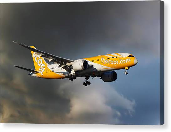Airlines Canvas Print - The Future Is Yellow by Smart Aviation