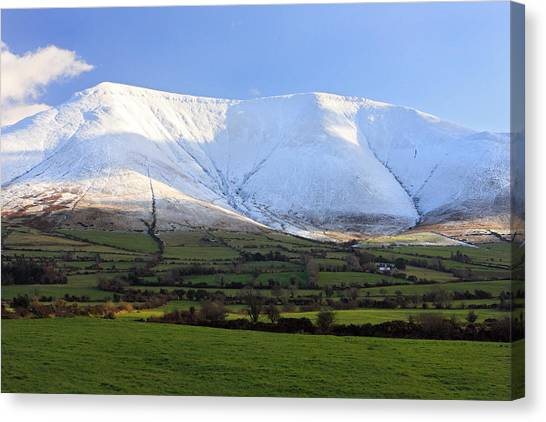The Galtees  Ireland's Tallest Inland Mountains Canvas Print by Pierre Leclerc Photography