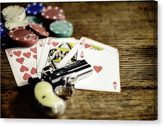 The Gambler Canvas Print
