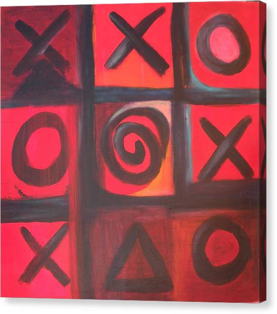 The Game Is Fixed Canvas Print by Andrea Friedell