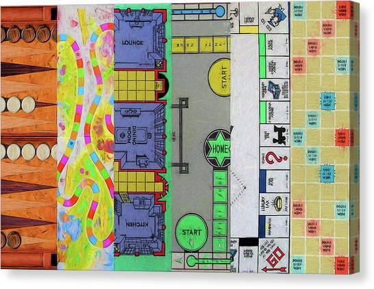 Backgammon Canvas Print - The Game Name by John Haldane