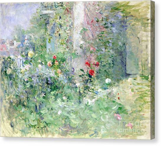 Park Scene Canvas Print - The Garden At Bougival by Berthe Morisot