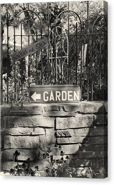 The Garden Gate Canvas Print by Jim Furrer