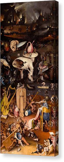 Early Christian Art Canvas Print - The Garden Of Earthly Delights, Right Wing by Hieronymus Bosch