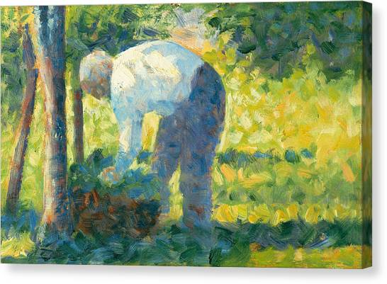 Post-impressionism Canvas Print - The Gardener by Georges-Pierre Seurat