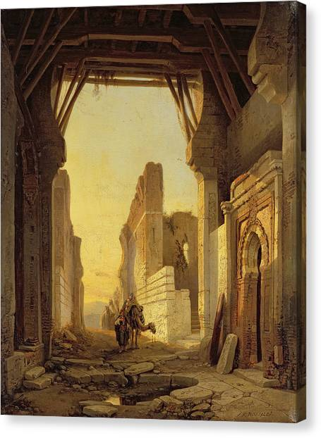 Gateway Arch Canvas Print - The Gates Of El Geber In Morocco by Francois Antoine Bossuet