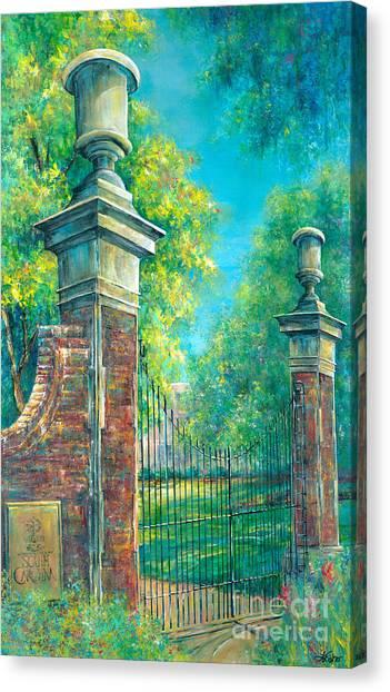 University Of South Carolina Canvas Print - The Gates Of The Horseshoe II by Lindsey Fisher