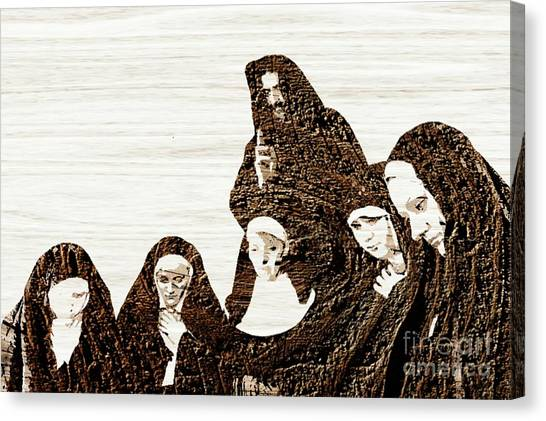 Communion Canvas Print - The Gathering For Prayer by Pierre Blanchard