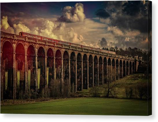 Canvas Print featuring the photograph The Gatwick Express by Chris Lord