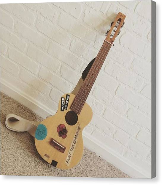 Ukuleles Canvas Print - The Gear #vscocam #vsco #ukulele #tenor by Dadi Setiadi