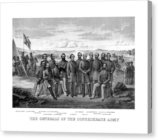 Stonewall Canvas Print - The Generals Of The Confederate Army by War Is Hell Store