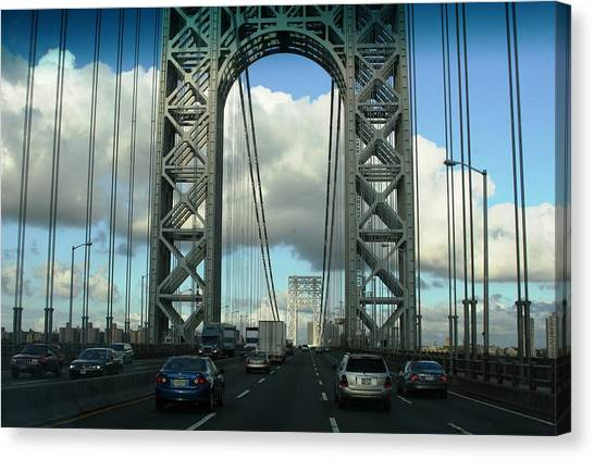 The George Washington Bridge  Canvas Print by Paul SEQUENCE Ferguson             sequence dot net