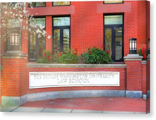 George Washington University Gwu Canvas Print - The George Washington University Law School Dc by Susan Candelario