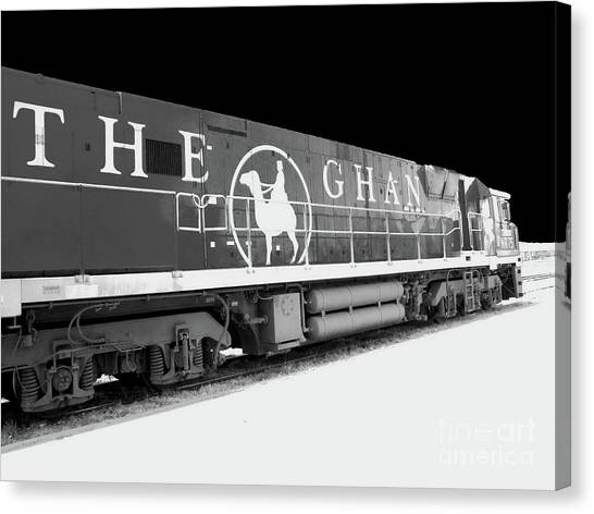 The Ghan Bw Canvas Print