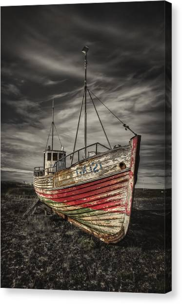 Derelict Canvas Print - The Ghost Ship by Evelina Kremsdorf