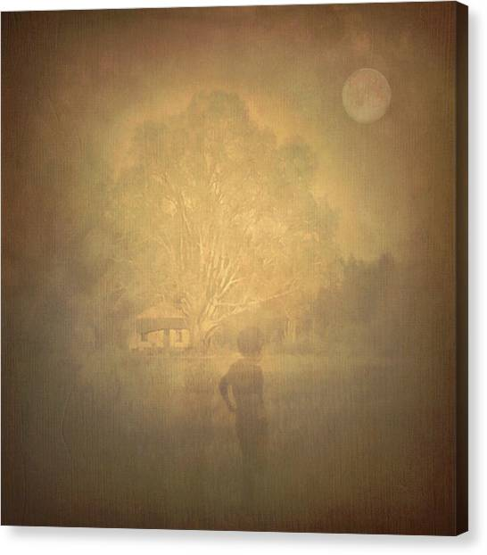 The Ghost Turns Away Canvas Print