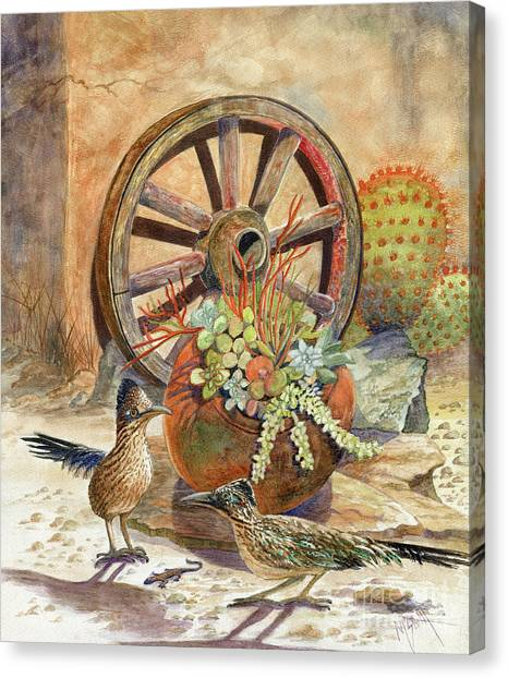 Roadrunner Canvas Print - The Gift by Marilyn Smith