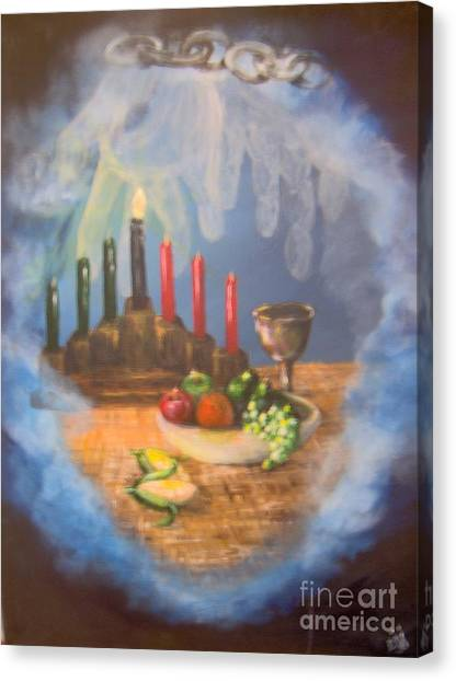 Canvas Print featuring the painting The Gift by Saundra Johnson