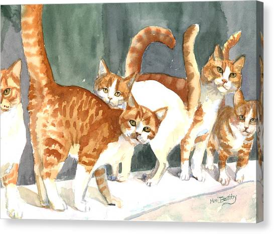 The Ginger Gang Canvas Print