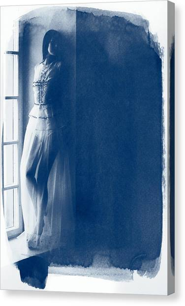 The Girl At The Window. Canvas Print