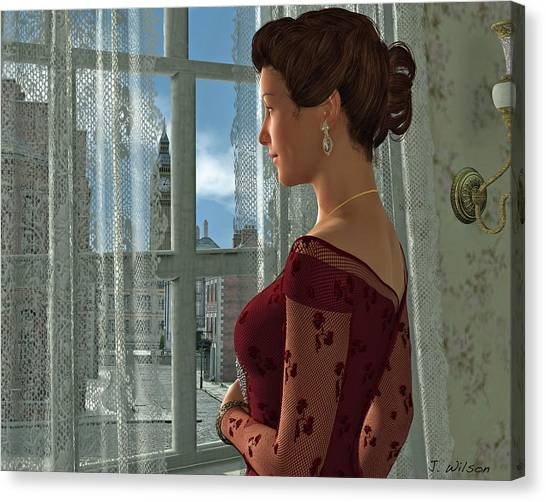 The Girl At The Window Canvas Print