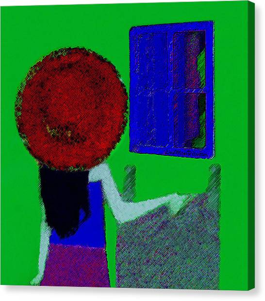 The Girl In The Mirror Canvas Print