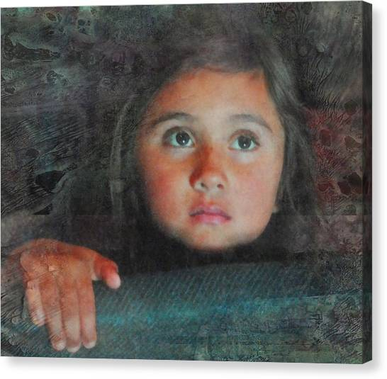 The Girl With The Chocolate Eyes Canvas Print