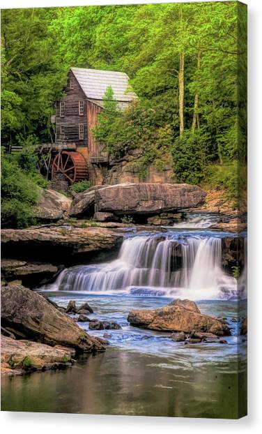 West Virginia Canvas Print - The Glade Creek Mill by Tom Mc Nemar