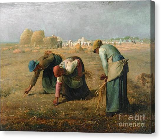 Women Canvas Print - The Gleaners by Jean Francois Millet
