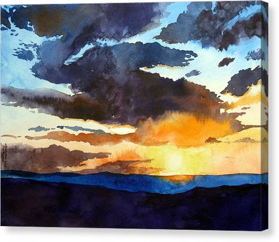 The Glory Of The Sunset Canvas Print