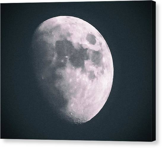 Celestial Sphere Canvas Print - The Glow Of The Moon by Martin Newman