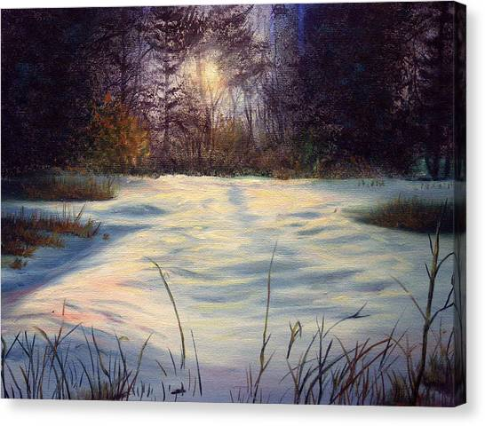 The Glow Of Winter Canvas Print by Tommy  Winn